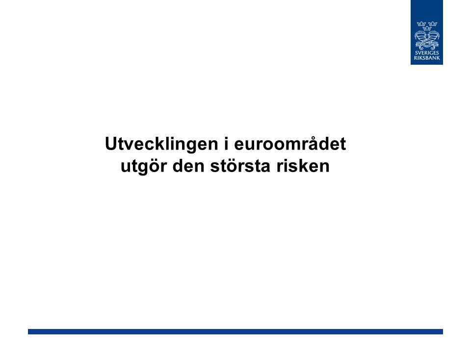 Utvecklingen i euroområdet utgör den största risken