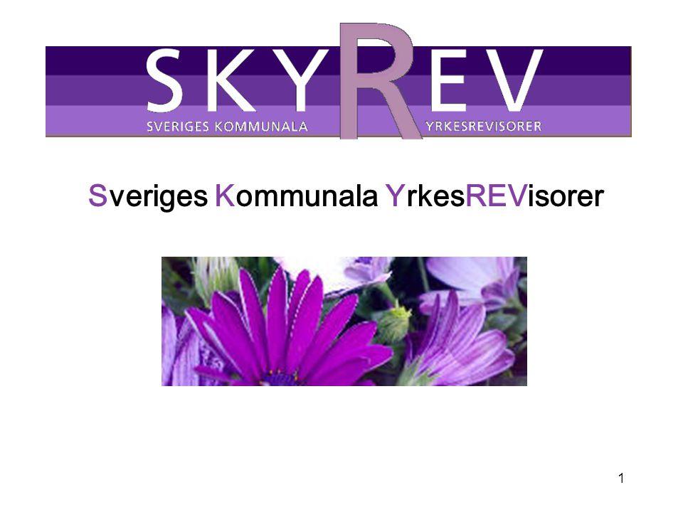 2 Skyrev Föreningen bildades hösten 2000 Efter våra inledande år har vi nu drygt 350 medlemmar varav ca 220 är certifierade En garant för kommunal yrkesrevision av högsta kvalitet.
