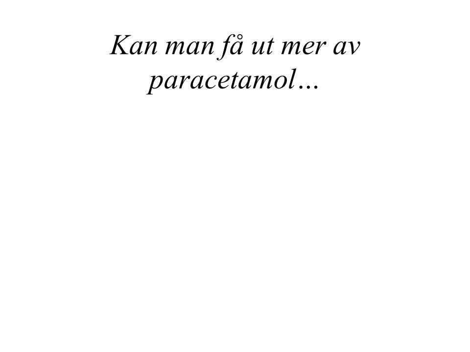 Kan man få ut mer av paracetamol…