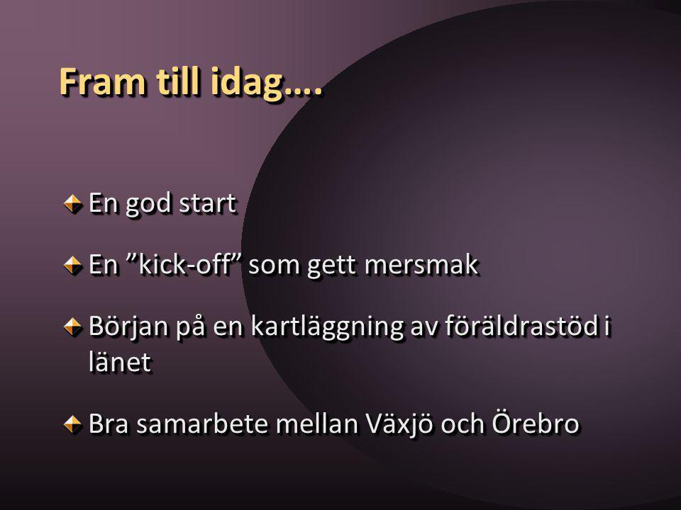 Aktiviteterna:Aktiviteterna: ska fungera stödjande för de flesta föräldrar ska bottna i de värderingar om föräldraskapet som finns i Sverige ska fungera stödjande för de flesta föräldrar ska bottna i de värderingar om föräldraskapet som finns i Sverige