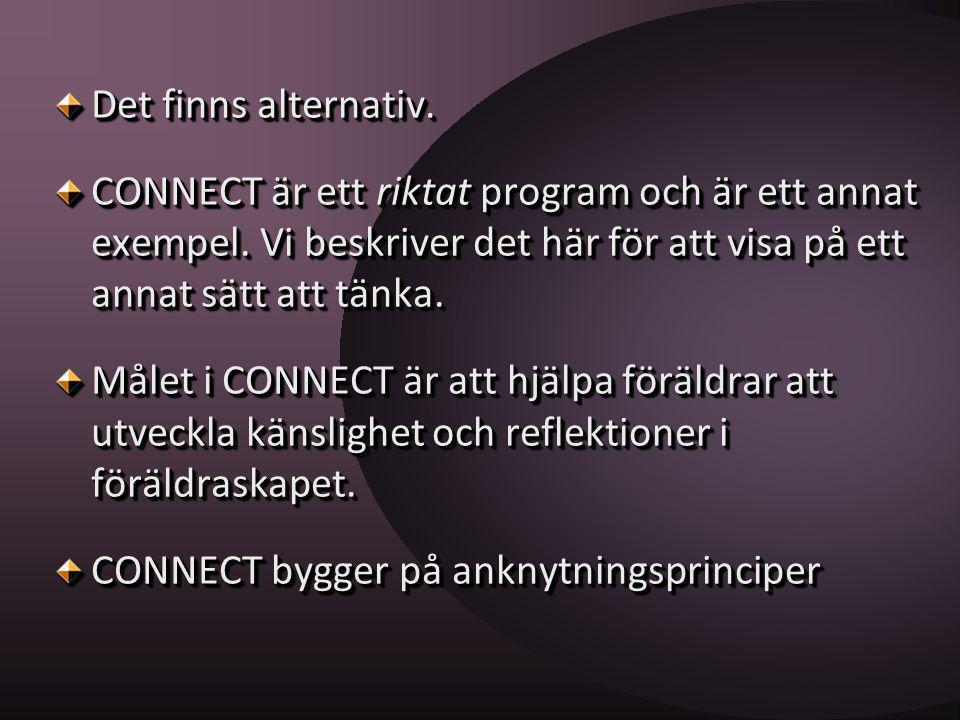 Det finns alternativ. CONNECT är ett riktat program och är ett annat exempel. Vi beskriver det här för att visa på ett annat sätt att tänka. Målet i C