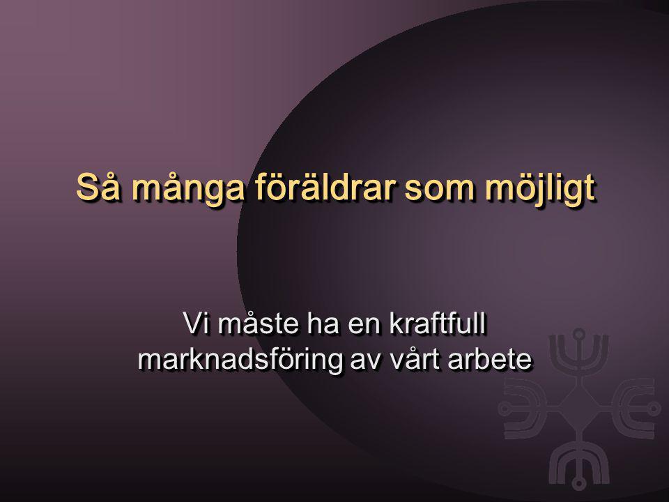 Föräldrastödjande aktiviteter i Växjö: bottnar i de värderingar om föräldraskapet som finns i Sverige har barnet i centrum.