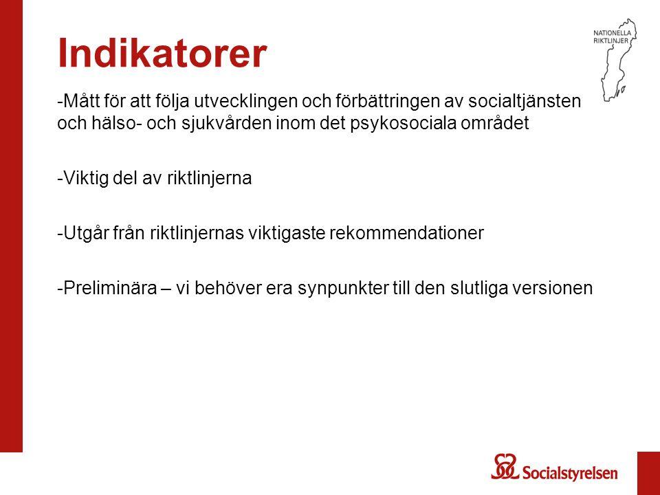 Ekonomisk expertgrupp Lars Bernfort, CMT, Linköpings universitet Karin Mossler, Socialstyrelsen Matilda Hansson, Socialstyrelsen Åsa Wikberg, Socialstyrelsen
