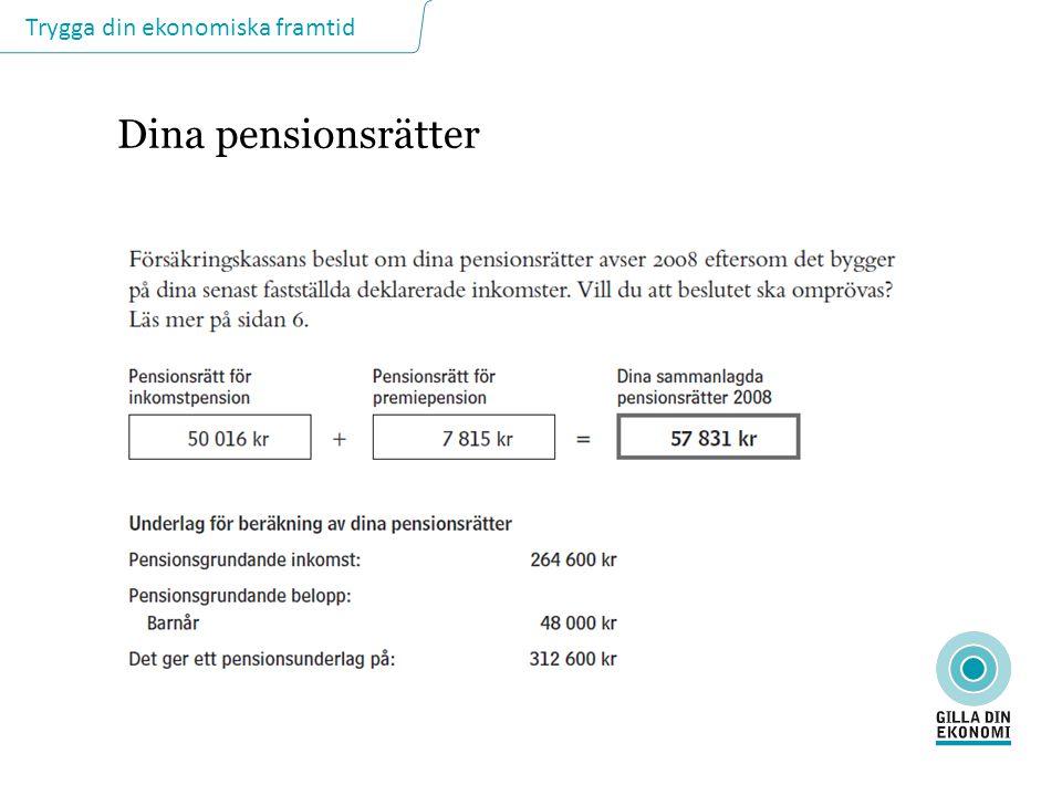 Dina pensionsrätter