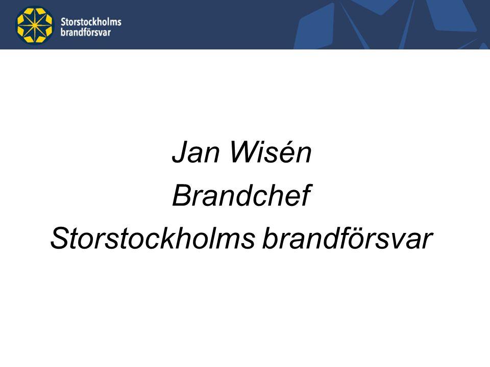 Jan Wisén Brandchef Storstockholms brandförsvar