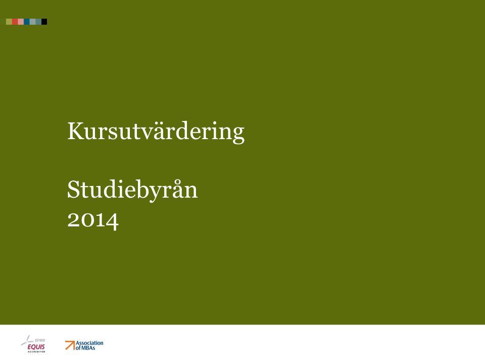 Kursutvärdering Studiebyrån 2014