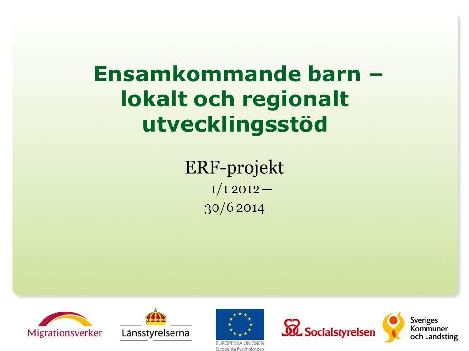 Projektets övergripande mål Att höja kvalitén på kommunernas mottagande av ensamkommande barn