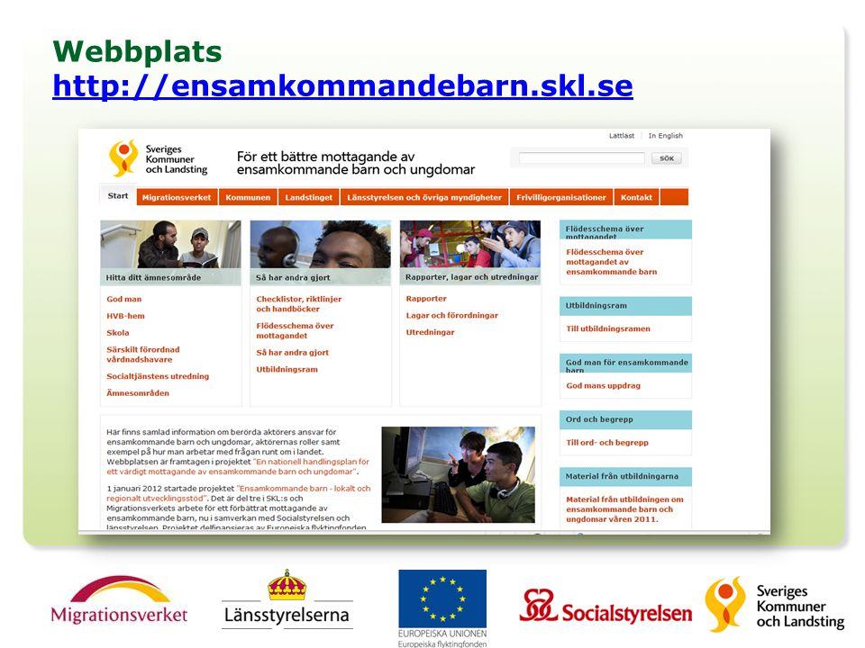 Webbplats http://ensamkommandebarn.skl.se http://ensamkommandebarn.skl.se