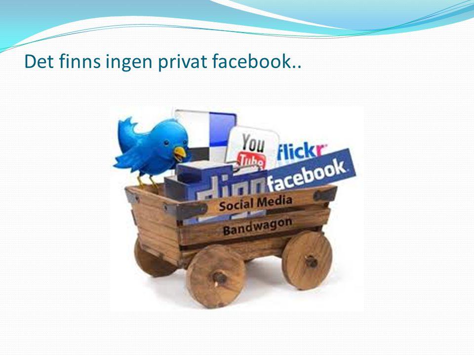 Det finns ingen privat facebook..