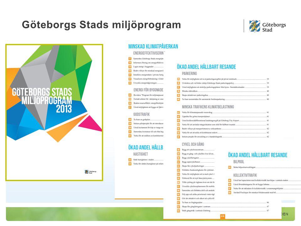 Göteborgs Stads miljöprogram EN HÅLLBAR STAD – ÖPPEN FÖR VÄRLDEN