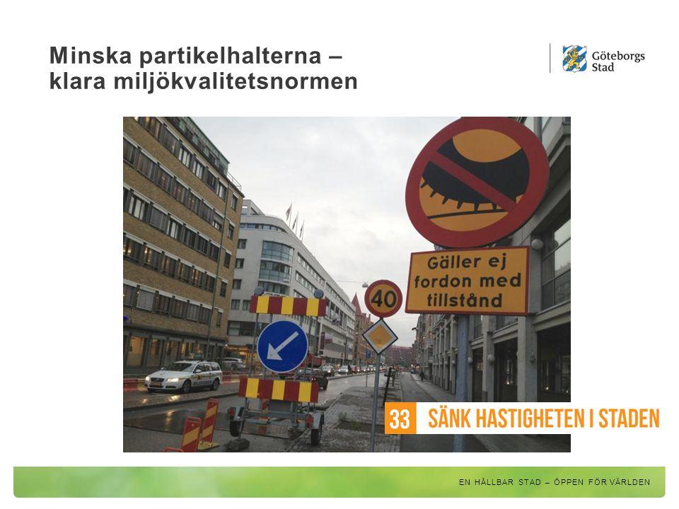 Minska partikelhalterna – klara miljökvalitetsnormen EN HÅLLBAR STAD – ÖPPEN FÖR VÄRLDEN