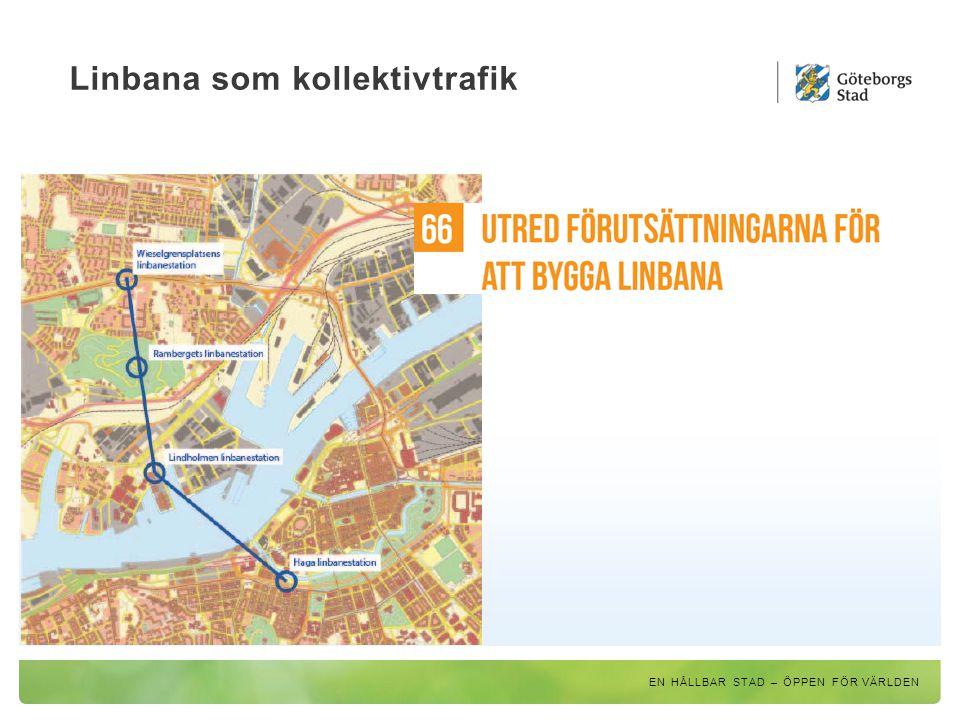 Linbana som kollektivtrafik EN HÅLLBAR STAD – ÖPPEN FÖR VÄRLDEN