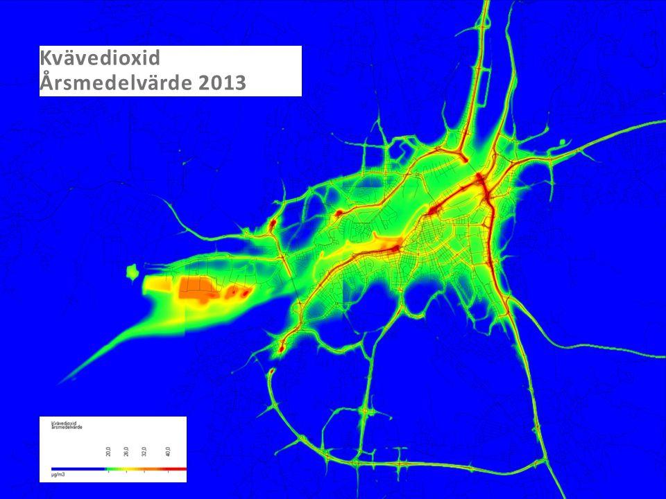 Kvävedioxid Årsmedelvärde 2013