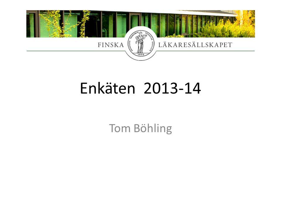 Enkäten 2013-14 Tom Böhling