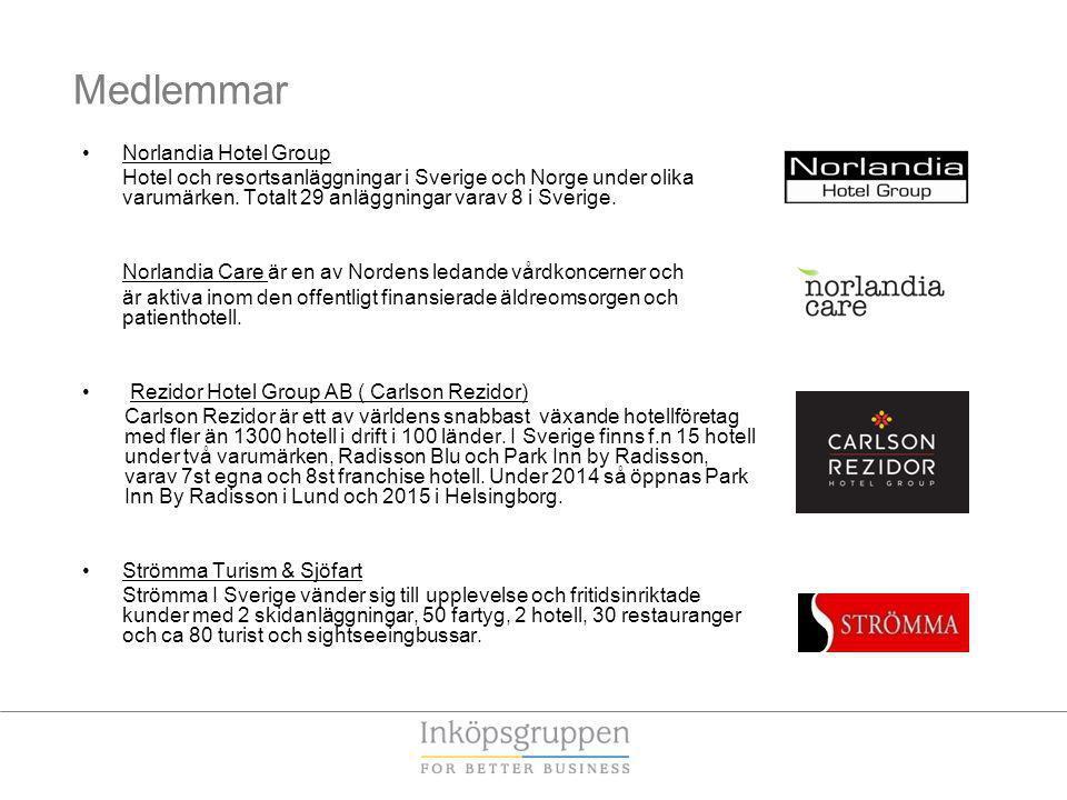 Medlemmar Norlandia Hotel Group Hotel och resortsanläggningar i Sverige och Norge under olika varumärken.