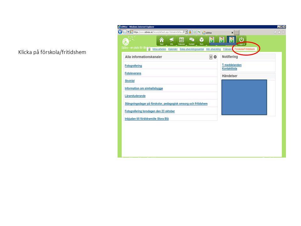 Klicka på registrera barnschema