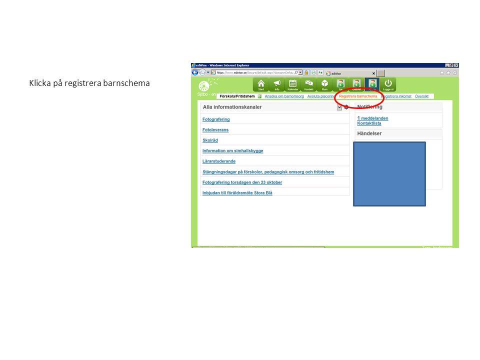 Här väljer ni om ni vill utgå ifrån ett tomt schema eller ifrån ett redan registrerat schema.