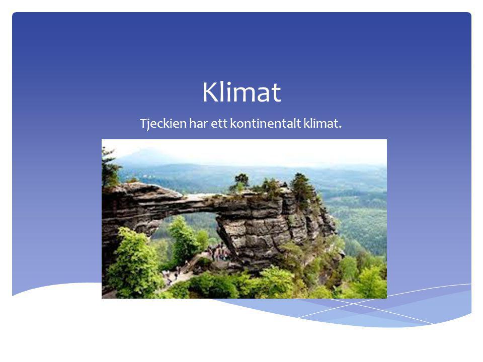 Klimat Tjeckien har ett kontinentalt klimat.