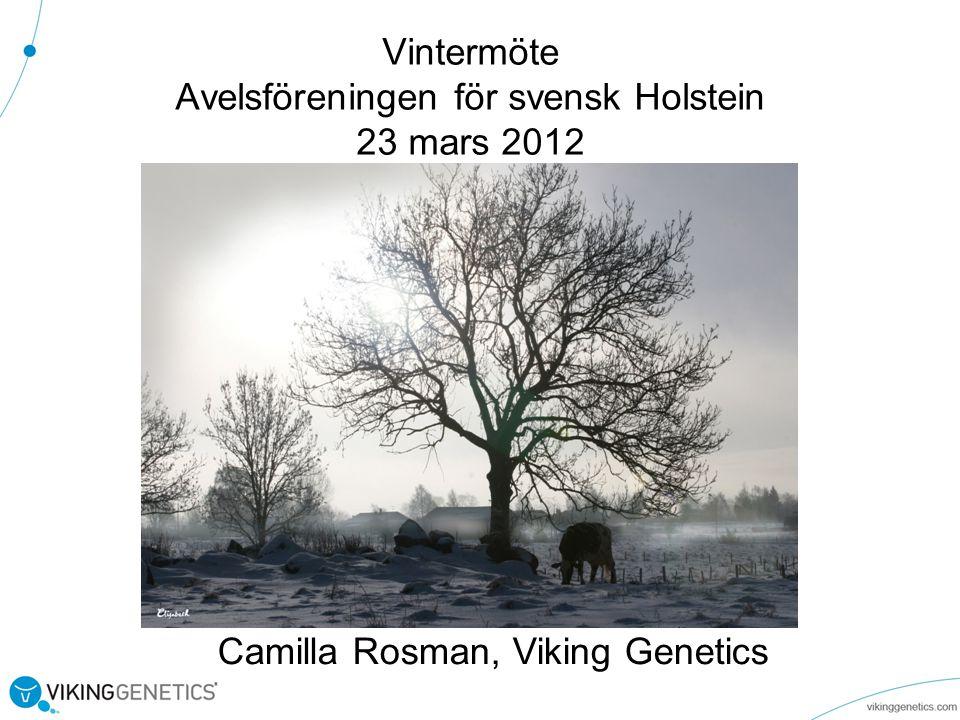 Vintermöte Avelsföreningen för svensk Holstein 23 mars 2012 Camilla Rosman, Viking Genetics