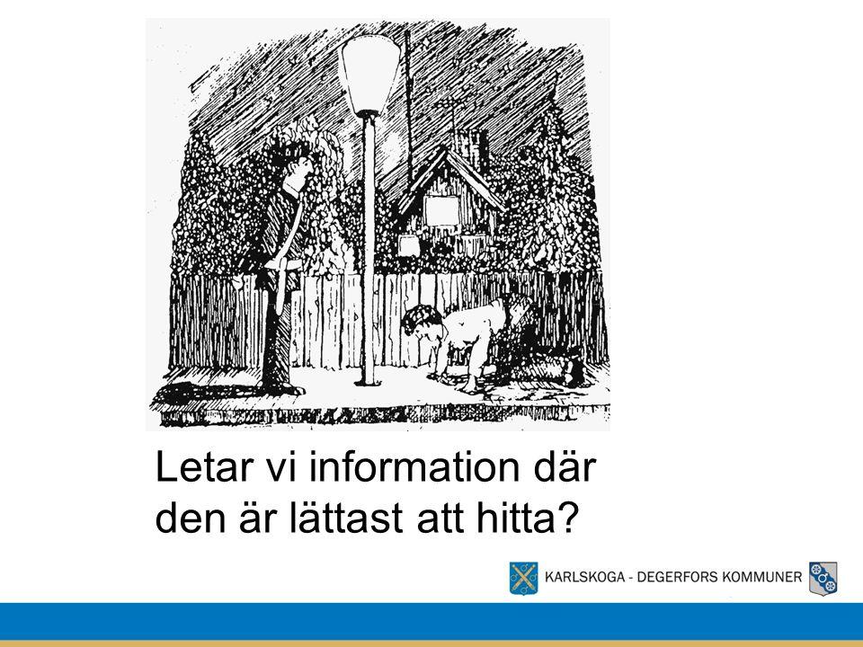 Letar vi information där den är lättast att hitta?