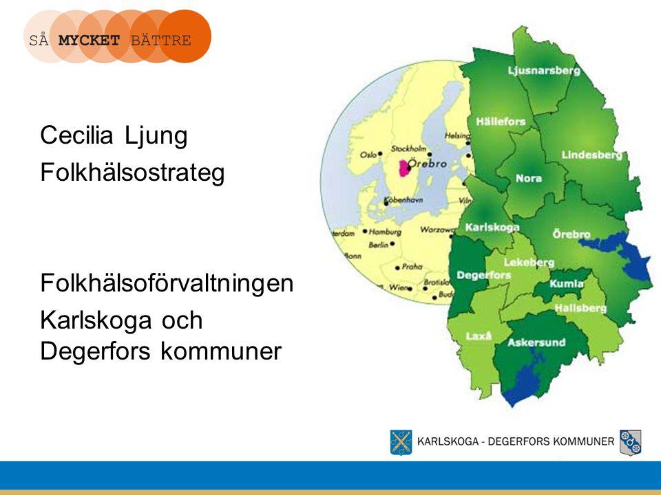 Cecilia Ljung Folkhälsostrateg Folkhälsoförvaltningen Karlskoga och Degerfors kommuner