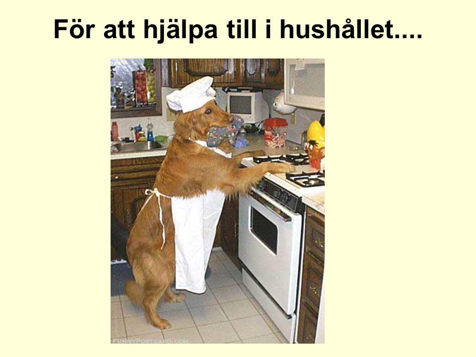 För att hjälpa till i hushållet....