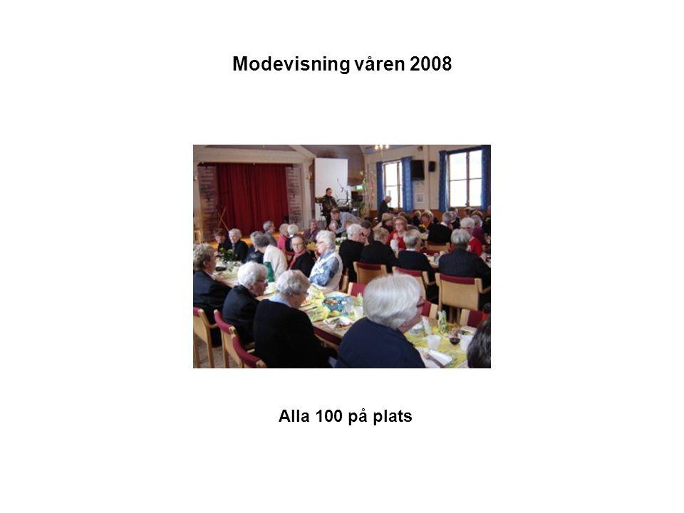 Modevisning våren 2008 Alla 100 på plats