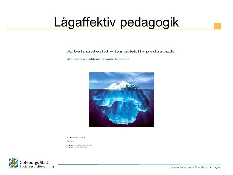 Verksamhetsområde Boende och socialjour Lågaffektiv pedagogik
