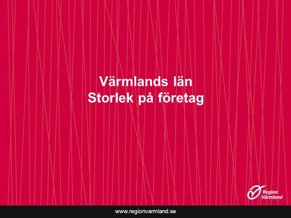 www.regionvarmland.se Värmlands län Storlek på företag