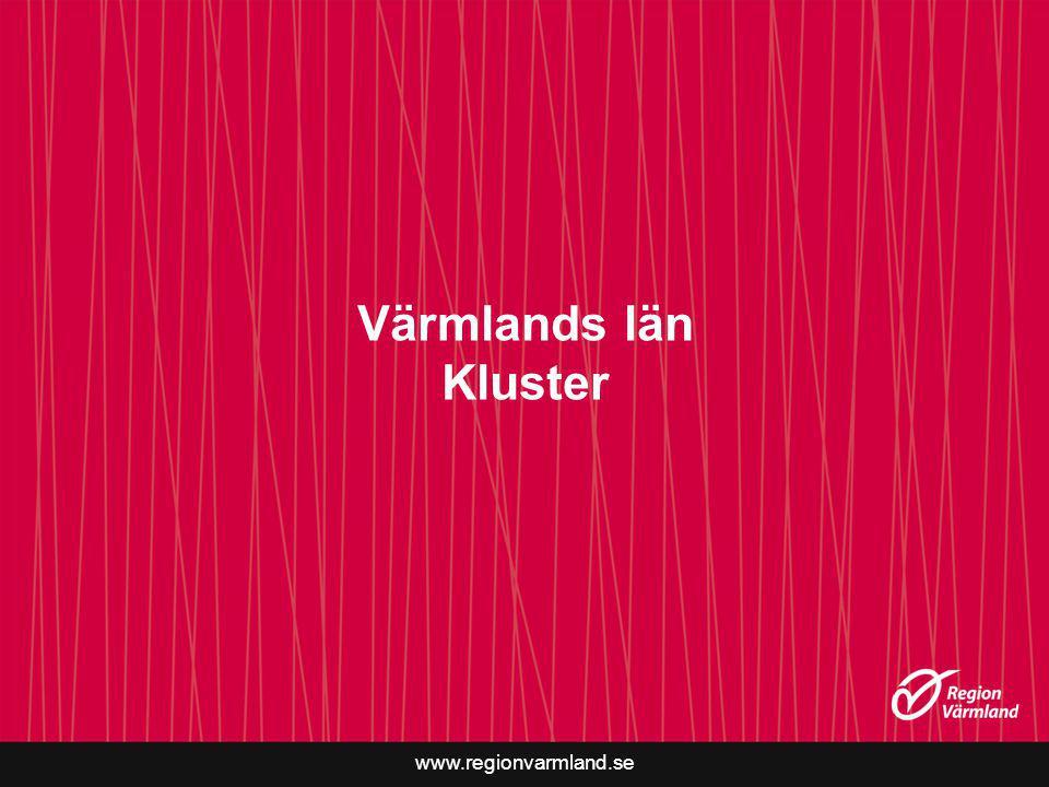 www.regionvarmland.se Värmlands län Kluster