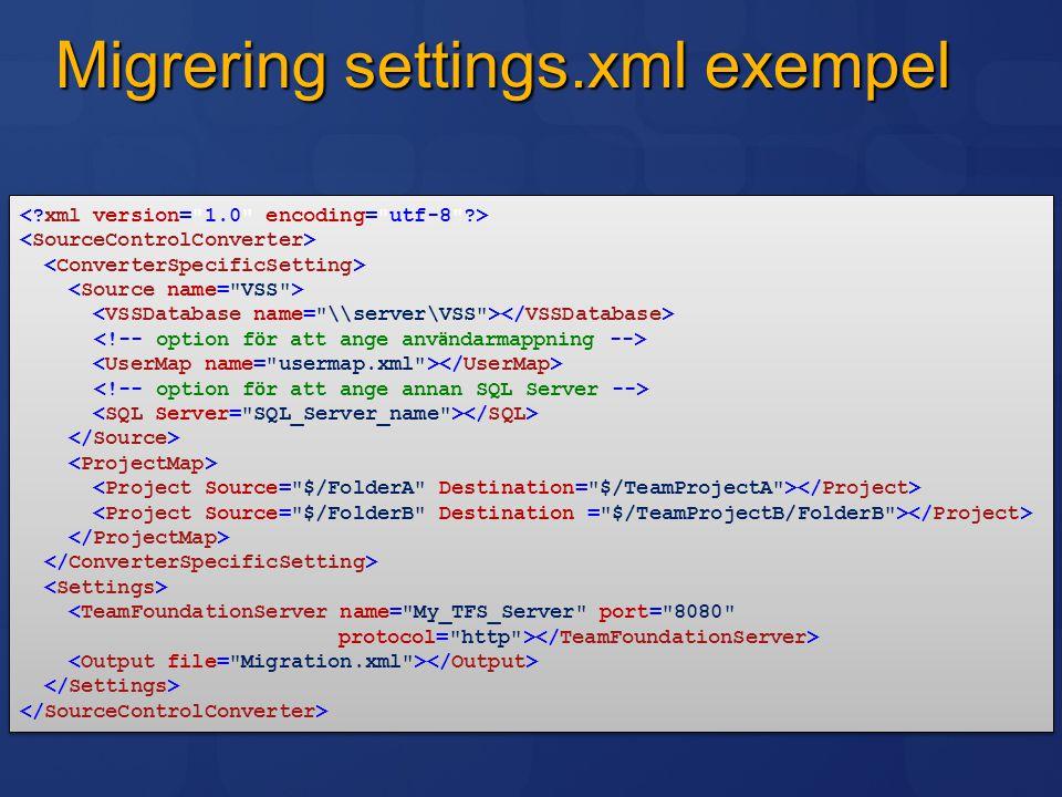 Migrering settings.xml exempel