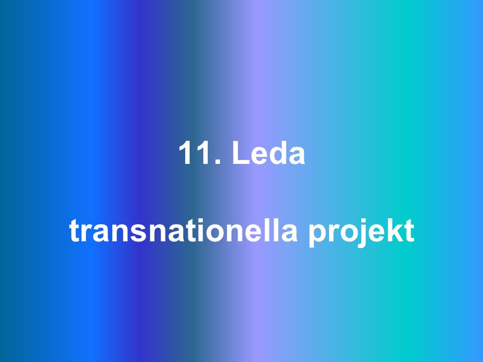 11. Leda transnationella projekt