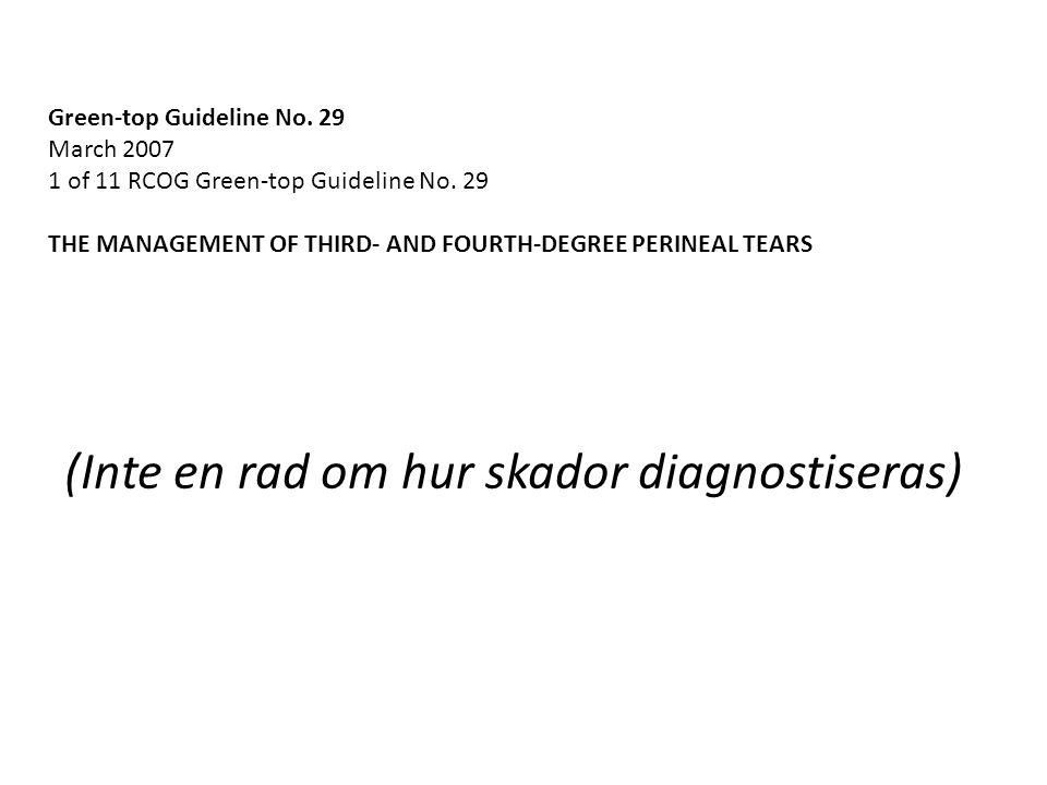 Bristningsregistret Initiativ från UR-ARG 2010 Ursprungligen tänkt som sfinkterskaderegister Men kan användas efter alla bristningar Öppen styrgrupp med obstetriker, barnmorskor, bäckenbottenforskare, colorektalkirurg, gastroenterolog Finansierat av SKL, 2012-2013 675 tKr Kliver på Gynop-registrets färdiga teknik