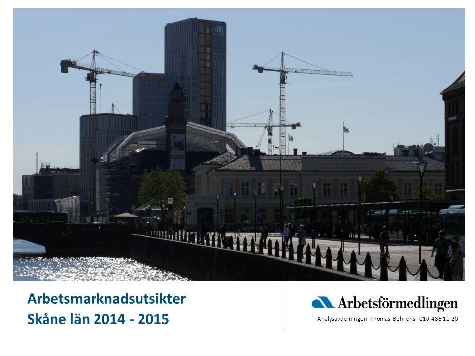 Bild 12 Skåne om ett år - 2015 Bristyrken PROGNOS våren 2014