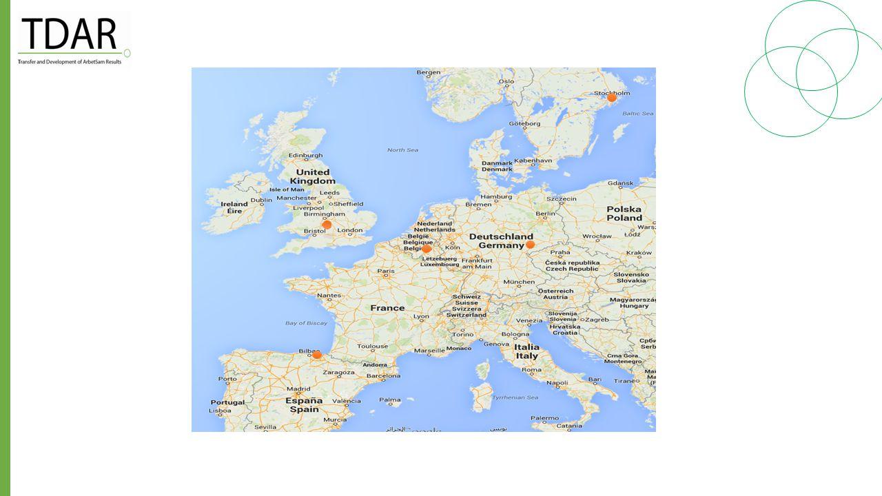 Parter i projektet Fem länder finns med Sverige Tyskland England Spanien Belgien