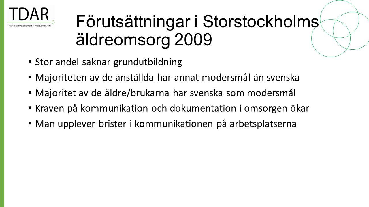 Frågeställningar på arbetsplatserna Varför lär de sig inte svenska när de har varit här så länge? Hur kan man ändra på det.