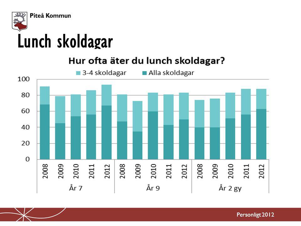 Lunch skoldagar Personligt 2012