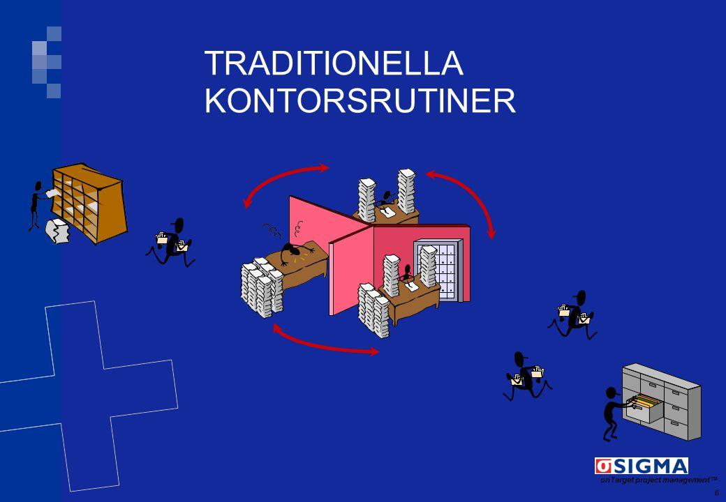 7 onTarget project management TM MODERNA KONTORSRUTINER Kund