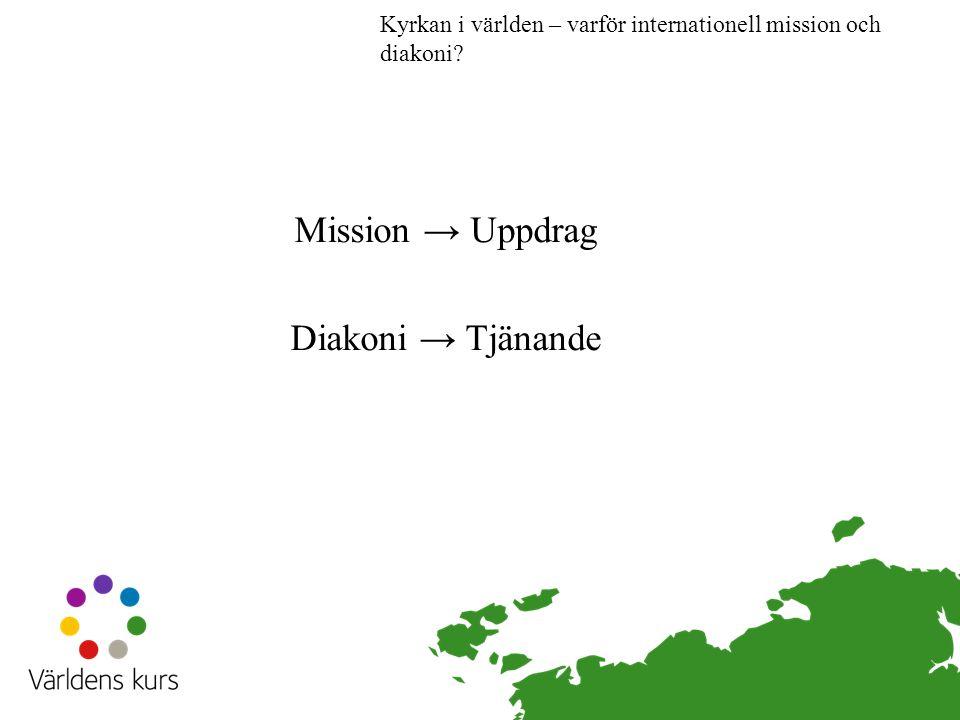 Mission → Uppdrag Diakoni → Tjänande Kyrkan i världen – varför internationell mission och diakoni