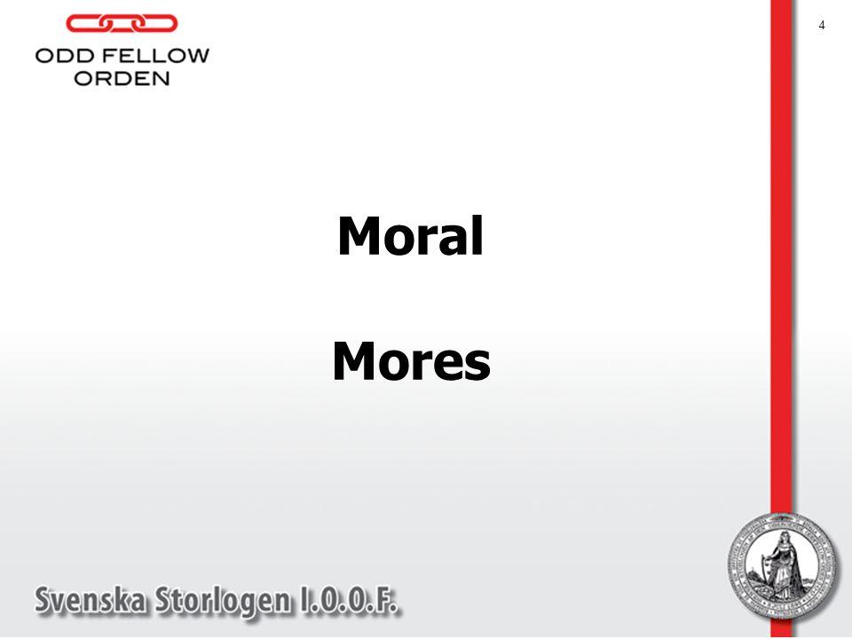 5 Etiken kopplad till karaktären Moralen reglerar vårt sociala beteende