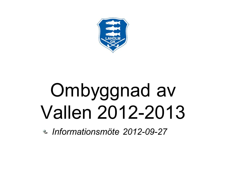 Ombyggnad av Vallen 2012-2013 Informationsmöte 2012-09-27