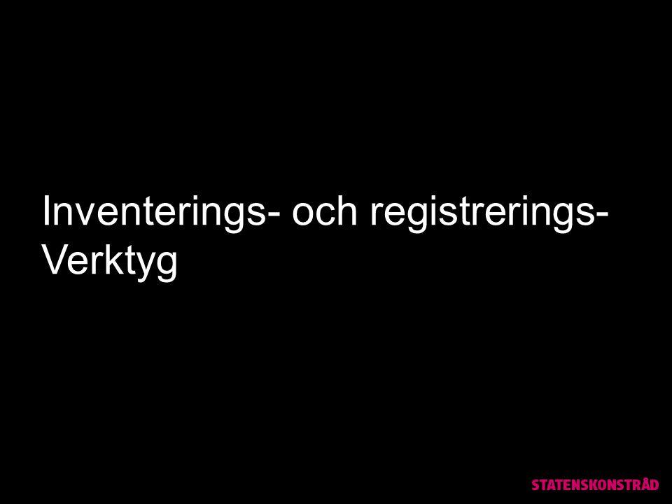 Inventerings- och registrerings- Verktyg