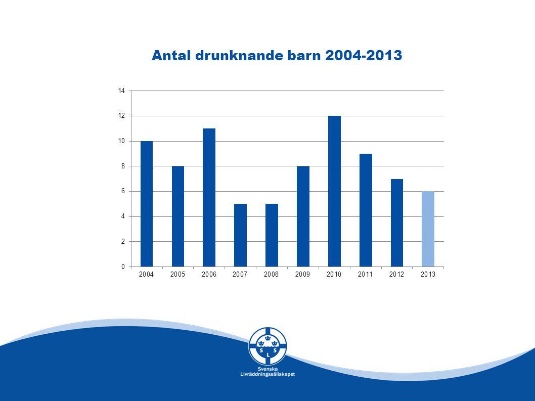 Antal drunknande barn 2004-2013