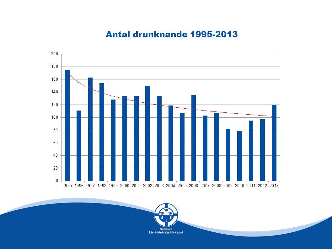 Antal drunknande 1995-2013