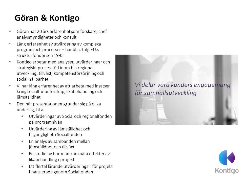 En relativt omfattande verksamhet Sverige tilldelades cirka 6,2 mdr från EU via Socialfonden Till detta kommer ungefär lika mycket i nationell medfinansiering Sammanlagt investerar vi ca 1, 75 mdr/år.