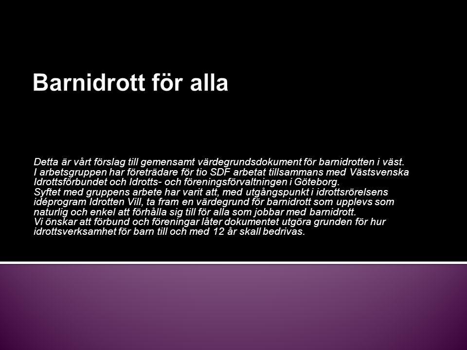 Resterande SDF:s styrelser inom Göteborg antar värdegrundsdokumentet.