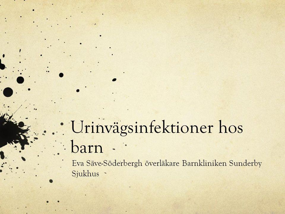 Urinvägsinfektioner hos barn Eva Säve-Söderbergh överläkare Barnkliniken Sunderby Sjukhus