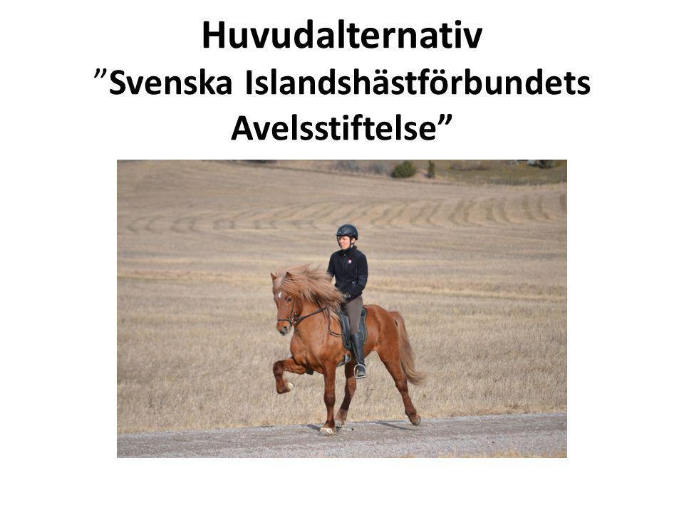 """Huvudalternativ """"Svenska Islandshästförbundets Avelsstiftelse"""""""