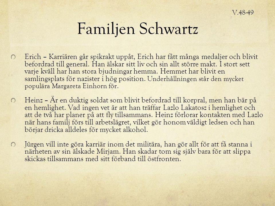 Familjen Schwartz Erich – Karriären går spikrakt uppåt, Erich har fått många medaljer och blivit befordrad till general.