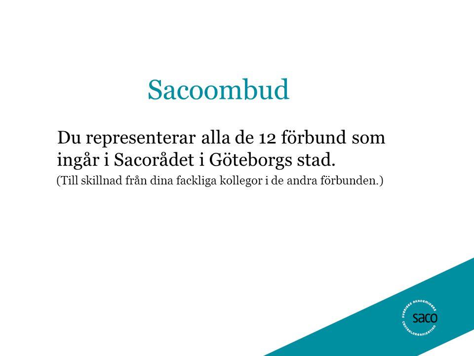 Sacoombud Du representerar alla de 12 förbund som ingår i Sacorådet i Göteborgs stad.